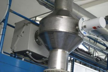 Obr. Measurement of mechanical flow of polluted gas and powder materials