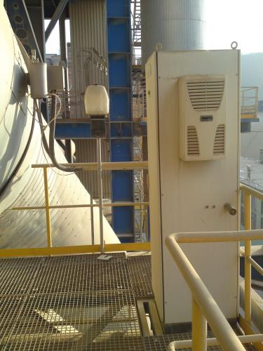 Cabinet CO and O2 analyzer for rotating furnace